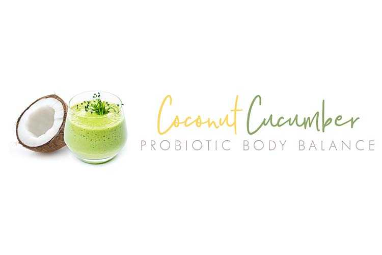 Advertisement for the Coconut Cucumber Probiotic Body Balancer
