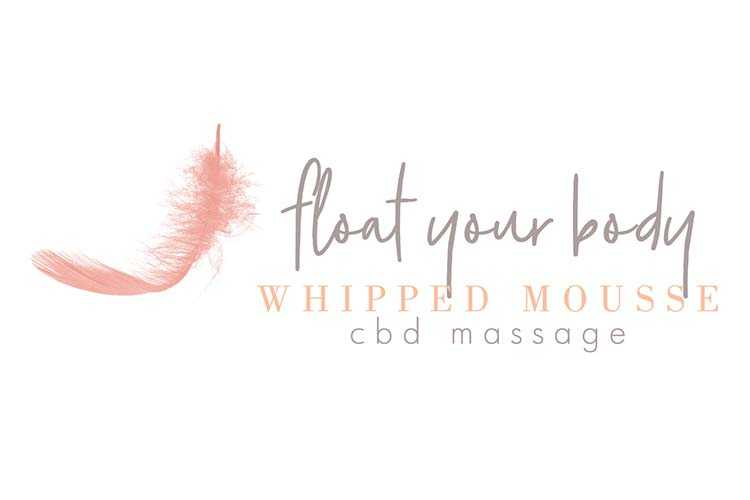 Advertisement for the Float Your Body Whipped Mousse CBD Massage