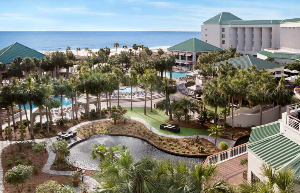An exterior shot of the Westin Hilton Head Resort